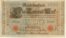 ALLEMAGNE GERMANY 1000 M reichsbanknote 1910 état voir scan 599