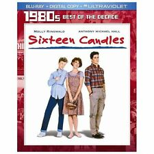 Sixteen Candles Blu-ray Disc NEW SEALED + SLIPCOVER Molly Ringwald