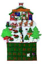 "24"" Large Santa's Workshop Fabric Christmas Advent Calendar"