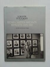 """"""" Henri CARTIER-BRESSON : ritratti 1928-1982 """" Monographie des Edit° Fabbri 1983"""