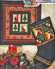 SEWING PATTERN Primitive Muslin Foundation Pieced Christmas Stocking Quilt UNCUT
