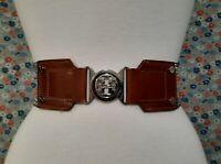 Tory Burch Silver Elastic Stretch Belt - Size XXS