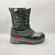 Red Wing Black Waterproof Insulated Steel Toe Boots ANSI Z41 Mens Size 8