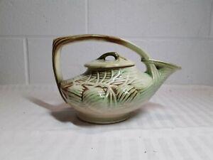 Vintage McCoy Pottery Teapot & Lid  Green/Brown