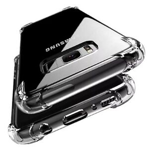 CLEAR Case For Samsung Galaxy S20 S10 Plus S9 S8 Silicon Gel Shockproof Cover