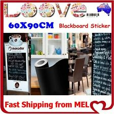 2x Blackboard Chalkboard Decal Vinyl Wall Sticker Sign Display Shop Menu Paper