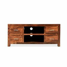 Mysore solid sheesham furniture TV DVD cabinet stand unit with drawers