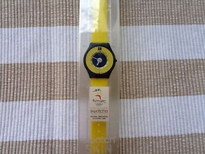 AU seller 1997 Retro/vintage AMARILLO SWATCH SKIN  NEW IN CASE! New Battery!