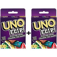 UNO Flip Card Game Brand new sealed package Mattel Games flip the deck 2 PACK