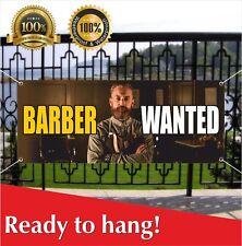 Barber Wanted Banner Vinyl Mesh Banner Sign Hair Shave Gentlemens Beauty Salon