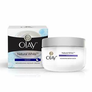 Olay Natural White Night Nourishing Repair Cream 50gm + Free Shipping