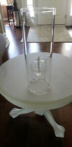 Wolford Glass Blowing Co. 15 inch Glass oil Lamp  LARGE