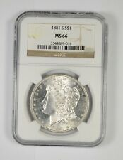 MS66 - RARE - 1881-S Morgan Silver Dollar - Near Perfect - NGC Graded! *673