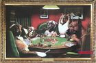 A Bold Bluff Dogs Playing Poker Coolidge Vintage Poster 24 x 36