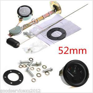 """2"""" 52mm Car Fuel Level LED Light Gauge Meter E-1/2-F Pointer With Fuel Sensor"""
