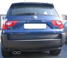 BMW X3 E83 2,5 3,0 Cappa di Scarico Tubo Finale Set Acciaio Inox Doppio Sportivo