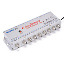 8 Voies CATV TV VCR Antenne Amplificateur Signal Booster Splitter 20db 220V