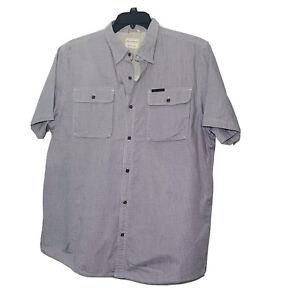 Field & Stream Men's Short Sleeve Shirt Size XL Gray Plaid Original Outfitter