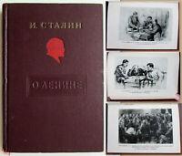 1940 Rare! Well illustrated Soviet Russian Political book Stalin on Lenin