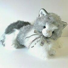 Vtg '90 Commonwealth Plush Himalayan Persian Kitty Cat Gray, Cream, Silver Bow