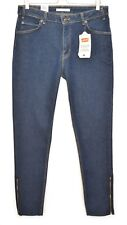 NEW Levis 721 VINTAGE HIGH RISE SKINNY Dark Blue Indigo ZIP Jeans 14 W32 L32