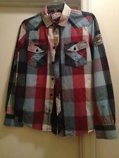 Petrol Industries Crude Oil Work Wear Classic Plaid Vintage Style Shirt Buckle