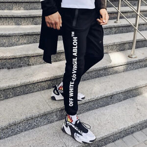 Sports pants in the style of Off White Abloh black XL