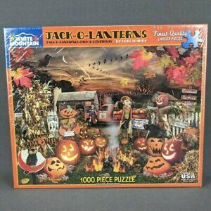 White Mountain Jack-O-Lanterns Halloween 1000 Piece Jigsaw Puzzle Lori Schory