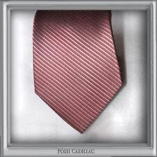 100% Silk NeckTie Posh Shiny Pink Violet Groom Wedding Formal Jacquard Handmade