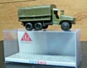HO EKO US ARMY  CLOSED TRUCK   # 4028  REMOVABLE COVER BY TOYEKO CLOSED TRUCK