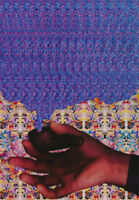 LOT OF 2 POSTERS: OPTICAL ILLUSION : LEAF - MAGIC EYE  -  FREE SHIP      RP88 L