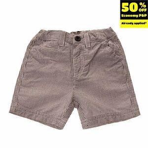 ARMANI BABY Chino Style Shorts Size 6M / 62 CM Striped Pattern Elasticated Waist