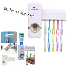 Wall Mount Stand Automatic Toothpaste Dispenser Household+Tooth Brush Holder Set