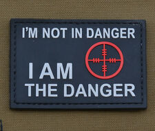 """PVC / Rubber Patch """"I am the Danger"""" with VELCRO® brand hook"""