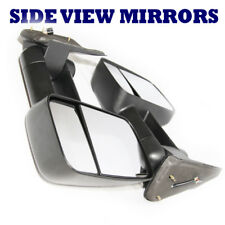 FOR 99-02 Silverado GMC Sierra 1500 Pair Black Side View Mirrors Power Heated