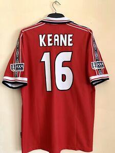Manchester United 1998/1999 Home Treble Final FA Cup Shirt Original XL Keane