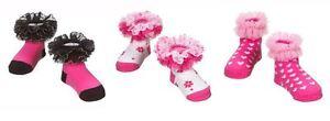 Ganz Baby Girl Pink Ruffle Socks Newborn Infant Gift ER34715