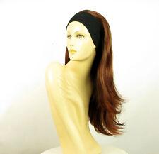 parrucca con bandana elastica castano scuro rame intenso ref BENEDICTE 322 PERUK