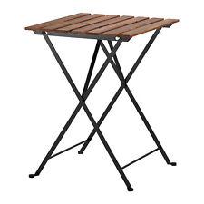 NUOVO IKEA TÄRNÖ Tavolo, outdoor, nero acacia, acciaio grigio-marrone macchiato 55x54 cm
