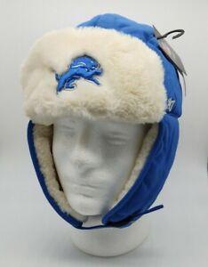 Detroit Lions '47 Trapper Winter Hat cap warm blue NFL new one size fits most