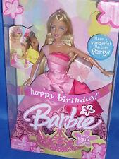 ♥ mattel NRFB top estado Happy Birthday Party cumpleaños barbie sueño en rosa