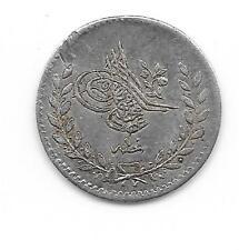 TURQUIE RARE 20 PARA ARGENT PIASTRE AH 1255 (20) TTB