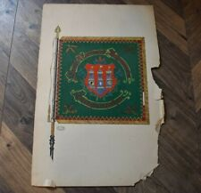 Altes Wappen Flagge handgemalt Reit- & Fahrverein Langensalza Interessenvertret.