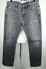 All Saints Spitalfields Black Star Iggy Slim Fit Selvedge Jeans Men Size 38 x 33