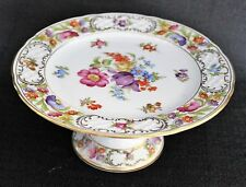 "Schumann Empress Dresden Flowers 7 3/4"" X 3 1/2"" Compote Made In Germany"