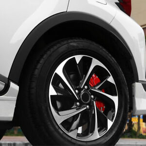 4× 3D Red Car SUV Disc Brake Caliper Covers Front & Rear Wheels Auto Accessories