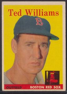 1958 Topps #1 Ted Williams Red Sox HOF EX±