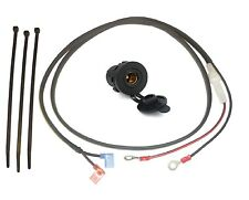 """12V Accessory Socket (DIN/Hella type - 37mm) with 1.2m (48"""") Loom - (Glass Fuse)"""