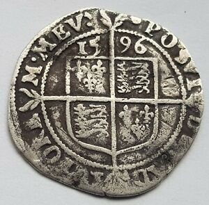 1596 Elizabeth I Sixpence Silver Coin Lot 1
