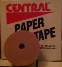 "1 Roll 3"" x 600' Central Water Activated Sealing Paper Packaging Tape USA - NEW"